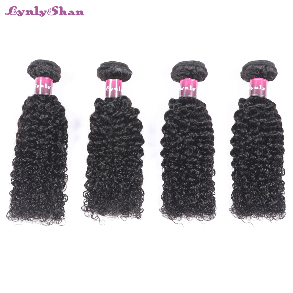 Human Hair Weaves Precise Lynlyshan Kinky Curly Hair Wave Bundles 100% Remy Human Hair Bundles Natural Color 4 Bundles Malaysian Hair Weaves To Win A High Admiration And Is Widely Trusted At Home And Abroad. Hair Weaves