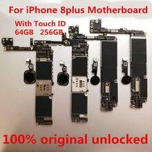 Материнская плата для iPhone 8 plus разблокированная, 100% оригинальная материнская плата для iPhone 8 plus 256 ГБ с сенсорным экраном, бесплатная доставк...