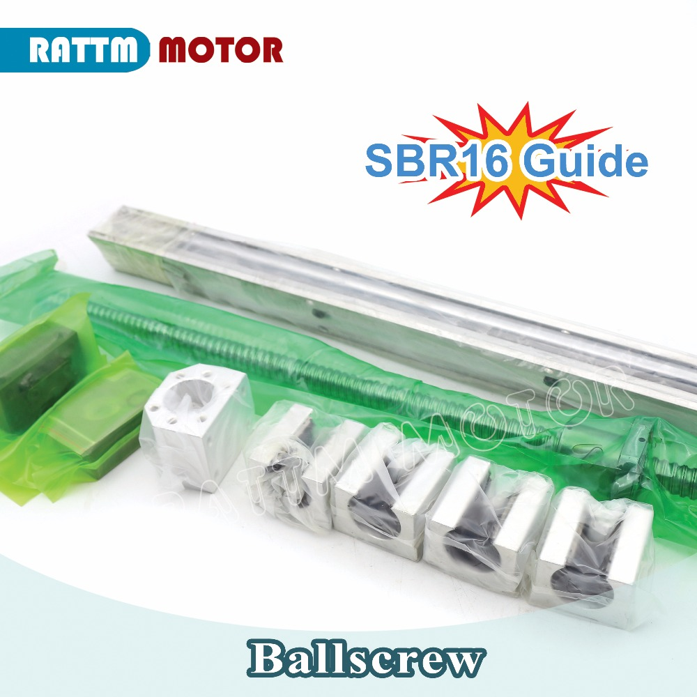 EU Delivery! Ball screw SFU1605 & 2Pcs linear guide SBR16 L500mm +4PC SBR16UU & BK/BF12 from RATTMMOTOR skagen skw6025