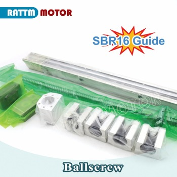 EU Delivery! Ball screw SFU1605 & 2Pcs linear guide SBR16 L500mm +4PC SBR16UU & BK/BF12 from RATTMMOTOR