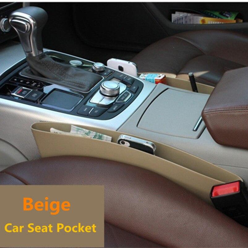 2 unids Asiento de Coche Caja de Almacenamiento de Bolsillo - Accesorios de interior de coche - foto 3