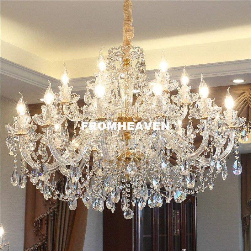 Ücretsiz kargo kristal avize oturma odası K9 kristal avize temizle asılı ışıklar fikstür düğün dekorasyon kolye lamba