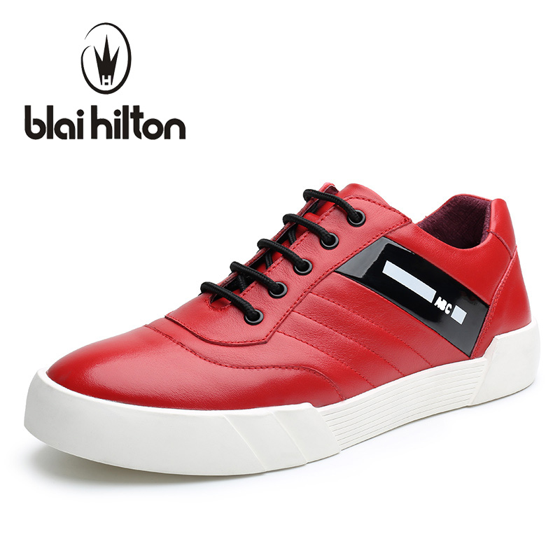 Blaibilton Low Top 100% Luxury Genuine Leather Men Shoes Fashion Letter Mens Shoes Casual Designer High Quality Black Red SD6218 gram epos men casual shoes top quality men high top shoes fashion breathable hip hop shoes men red black white chaussure hommre