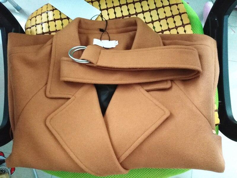 Women Short Woolen Coat Belt Jacket 13