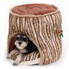 New Style Tree Stump Pet Bed Soft Warm Dog Cat House Cozy Nest Puppy High Quality