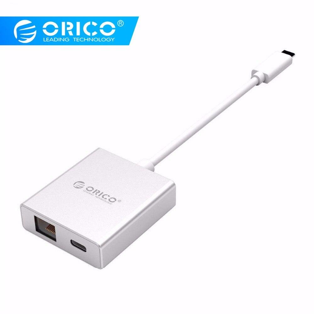 ORICO type-c à RJ45 adaptateur Hub PD chargeur avec réseau câblé Gigabit Ethernet IEEE802.3 pour MACbook pro Windows Mac Linux