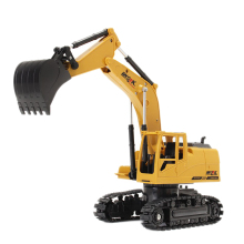 1/24 2.4Ghz 8Ch Simulation Die-Cast Rc Excavator Engineer Truck Car Toys Gift With Music And Light Rc Tractor RC Car Remote huina 1550 1 14 rc crawler car 15 ch 2 4ghz rc metal excavator charging rc car rc alloy excavator rtr gift for children adult