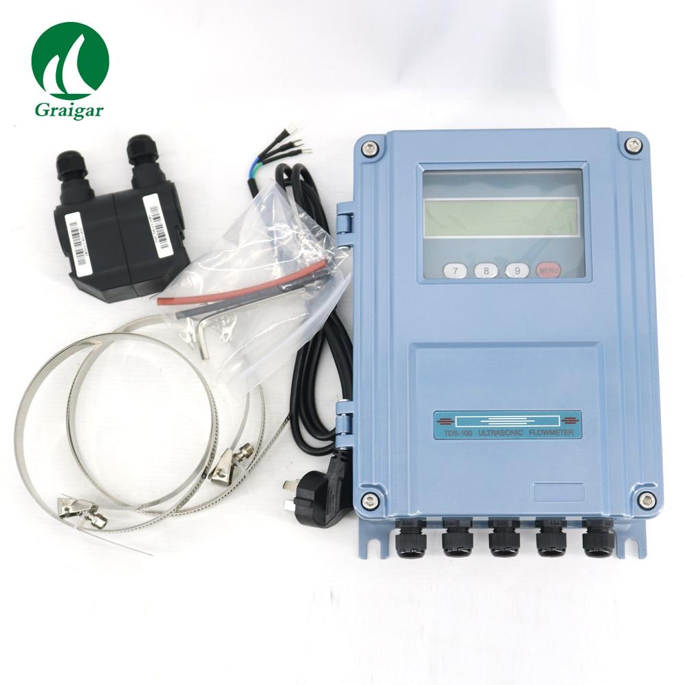 En stock Fixe à ultrasons débitmètre TDS-100F-M2 DN50-700mm TDS-100F mur de montage débitmètre