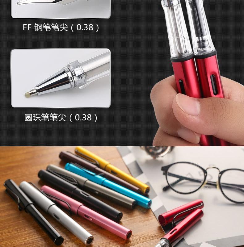 Colored Ballpoint Pen 038mm Fine Ball Point Resin Stainless Steel