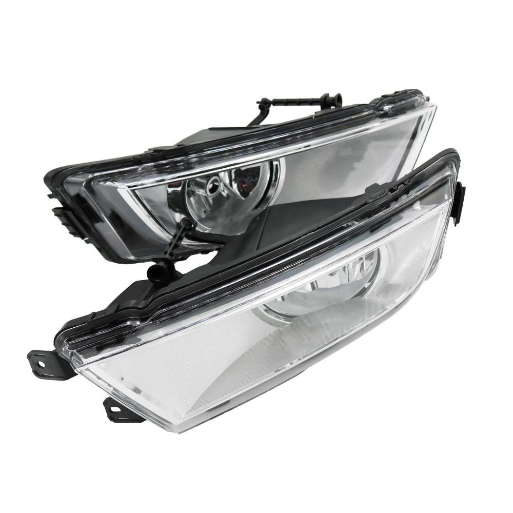 2Pcs Car Styling For Skoda Octavia A7 2013 2014 2015 2016 Front Halogen Fog Light Fog Lamp White With Bulb front fog lights for nissan teana 2004 2010 2011 2012 2013 2014 2015 auto bumper lamp h11 halogen car styling light bulb