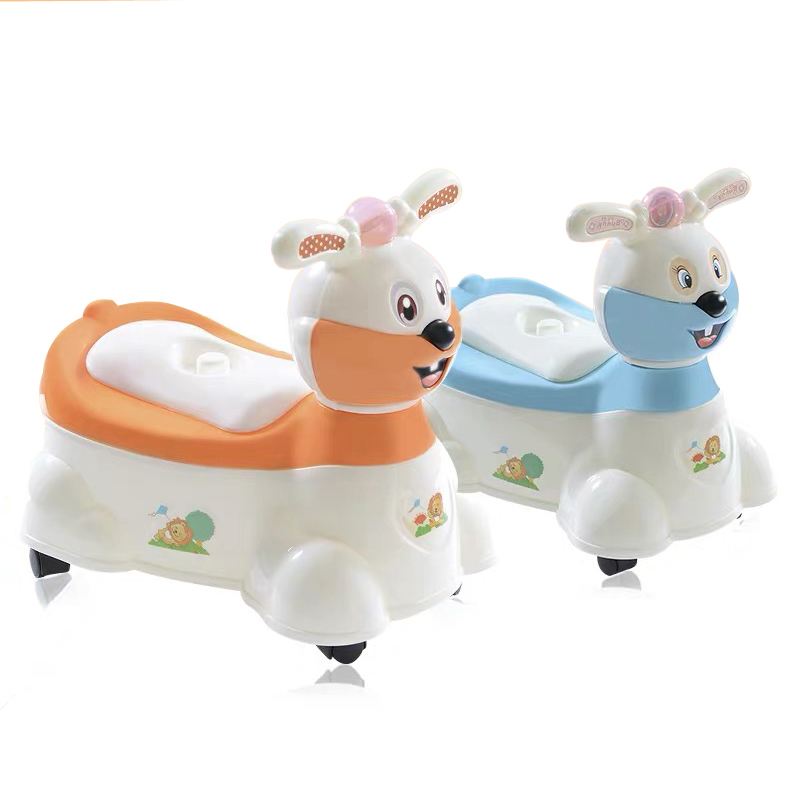 New Baby Musical Rabbit Potty Trainer Plastic Toilet Chair Portable Infant Baby Toilet Potty Training Chair Seat