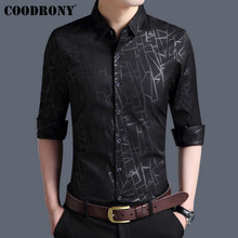 COODRONY Men Shirt Autumn New Arrivals Long Sleeve Business Dress Cotton Fashion Striped Slim Fit Casual Shirts 96002