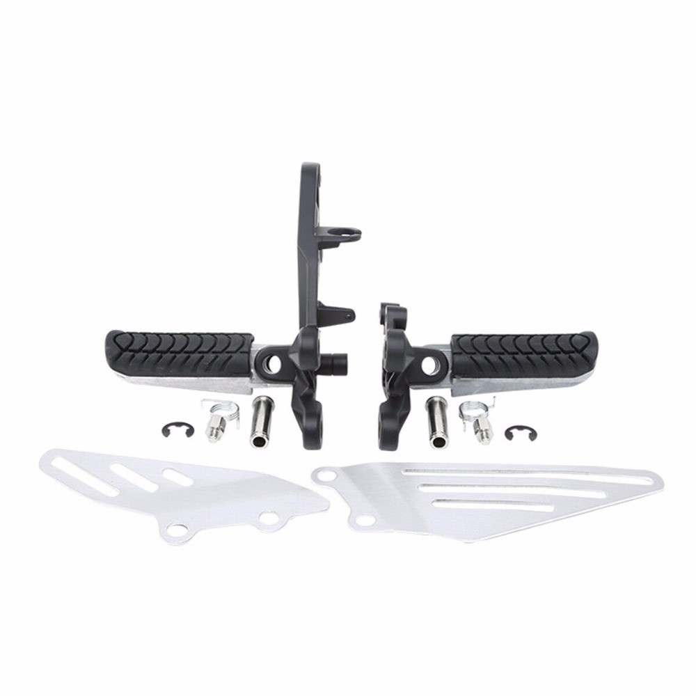Motorcycle Front Footpegs Footrest Bracket Kit For KAWASAKI ZZR1400 ZZR 1400 ZX14R 2006-2018 2016