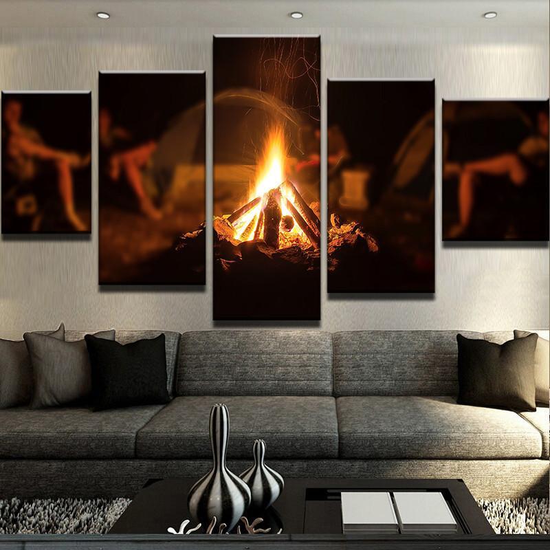 Wall decor HD Printed 5 Piece Canvas Art Ice Mountain Skiing ...