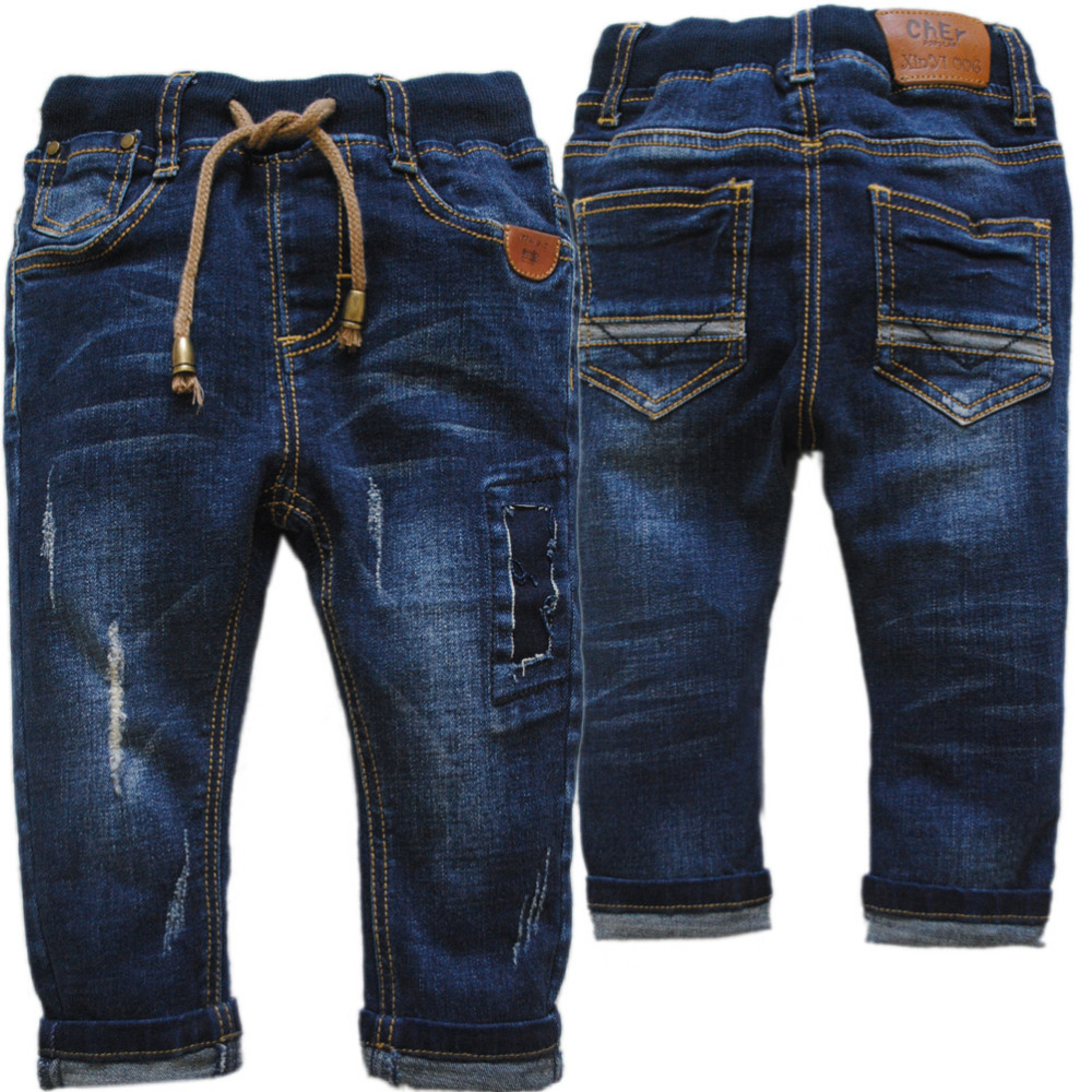 3939 Kids Baby Jeans Baby Boys Trousers Casual Pants Blue Soft Denim Girl