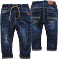 3993 baby pants jeans denim boys jeans trousers navy blue kids soft  regular spring autumn children's clothing 2017 new patch