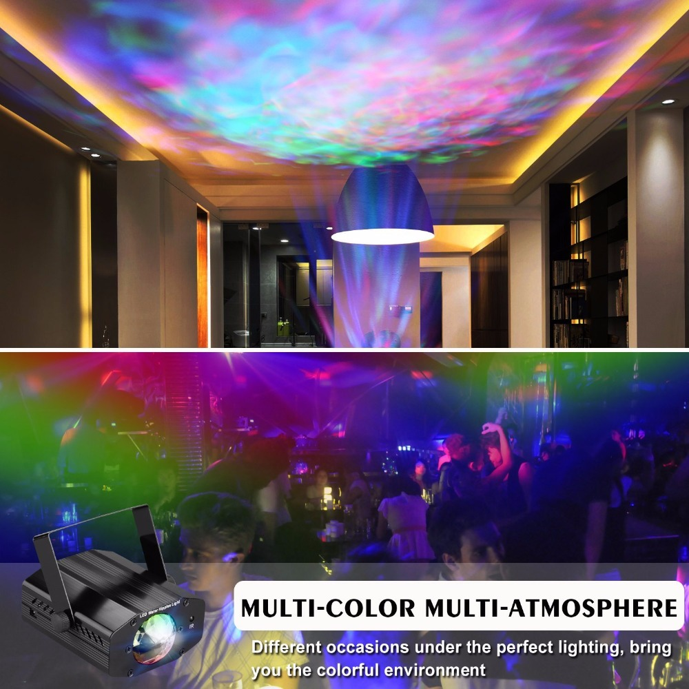 Aimbinet Disco DJ Party lights led stage lights strobe light with Remote- Ocean Moving  for home birthday party Lighting effect niugul dmx stage light mini 10w led spot moving head light led patterns lamp dj disco lighting 10w led gobo lights chandelier
