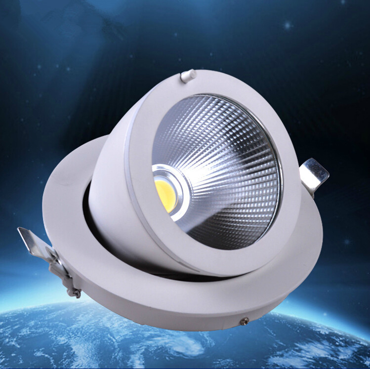 HOT Sale!!!New Style Dimmable Recessed LED Downlight COB 30W Dimming LED Spot Light LED Ceiling Lamps AC 110V 220V Free shipping no dimmable recessed led downlight cob 40w 60w led spot light led ceiling lamp ac110v 220v free shipping