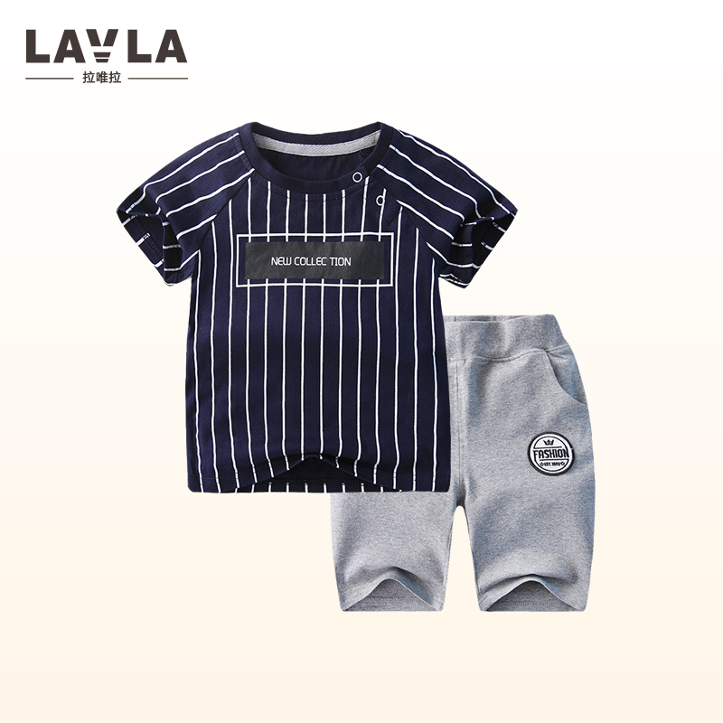 Kids boys short-sleeved suit 2017 new summer children's cotton casual T-shirt+ shorts big boys two piece boys clothes 9M-6 years цена 2016