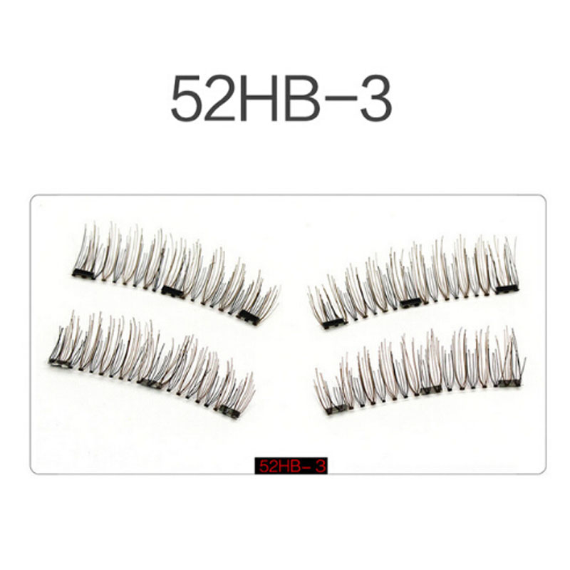 3 magnetic eyelashes extension natural false eyelashes on magnets reusable 3d magnetic fake eye