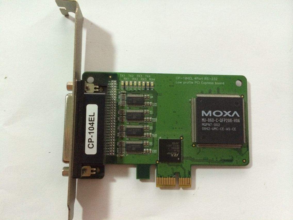 For MOXA CP-104EL PCI Express Mossa CP-114s 4-port Industrial RS-422 RS-485 Multi-port Used Tear down PartFor MOXA CP-104EL PCI Express Mossa CP-114s 4-port Industrial RS-422 RS-485 Multi-port Used Tear down Part