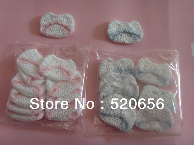 50pc Baby Shower Favor Supplies Decoration Party Game Gift Mini Knitted Boy  Girl Baptism Christening Baby