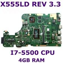 X555LDB MB. _ 4G/I7-5500U/AS GT820M V2G Материнская плата Asus R556UB R556L X555L X555LD X555LA Материнская плата ноутбука 100% тестирование