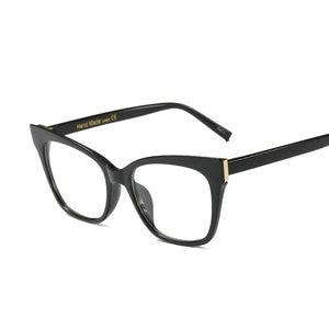 Image 4 - حار النساء نظارات القراءة الرجعية صندوق كبير مربع القط الإناث أزياء النظارات البصرية الإطار عالية الجودة نظارات القراءة NX