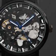 Zegarek Męski Blue Skeleton