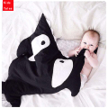 PPY-96 cute baby sleeping bag sleeping bag stroller winter bed cartoon wrap blanket bedding Shark newborn sleeping bag 2016