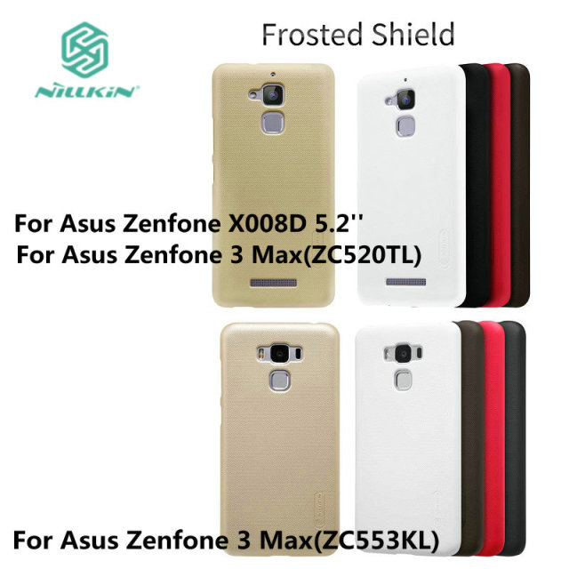 Original NILLKIN Frosted Shield shell Back cover case for ASUS Zenfone 3 Max ZC520TL X008D 5.2' / ZC553KL With Free HD Screen