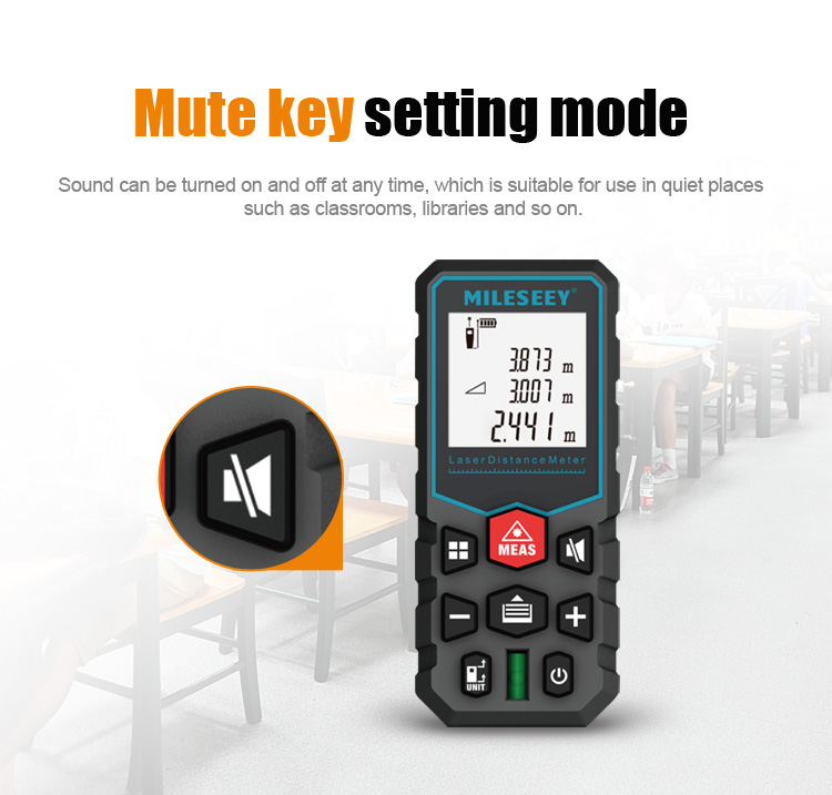 MiLESEEY Laser Distance Meter with Auto Laser Off and for Volume and Area Measurement 8