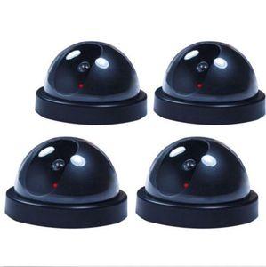 Image 1 - 4 поддельные Купольные Камеры видеонаблюдения со светодиодным датчиком света