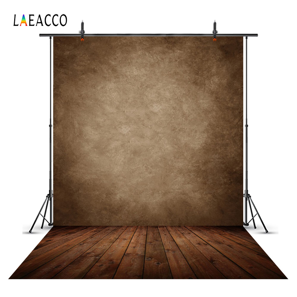 Laeacco Grunge Gradient Wooden Floor Dark Portrait Photocall Photographic Backgrounds For Photography Backdrops For Photo Studio