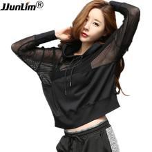 Fitness Sportswear Women Sport Suit Yoga Top Quick-Dry Long Sleeve Running Shirt Female T-shirt Workout Gym Hooded Sport