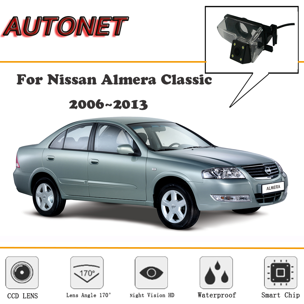 AUTONET Rear View Camera For Nissan Almera Classic 2006~2013/CCD/Night Vision/Reverse Camera/Backup Camera/license Plate Camera