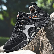 Men Hiking Shoes Outdoor Sport Antiskid Athletic Zapatos Hombre  Walking Multi Terrain Trekking Mountaineering Climbing Sneakers