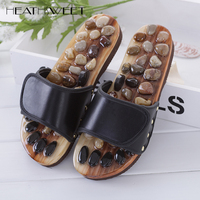Natural Cobblestone Agate Stone Foot Massage Slippers Feet Care At Home Acupoint Seniority Acupuncture Massage Shoes