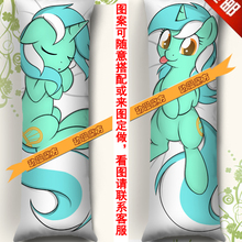 Аниме обнимающий Bady чехол для подушки-150*50 см My Little Pony Lyra Heartstrings
