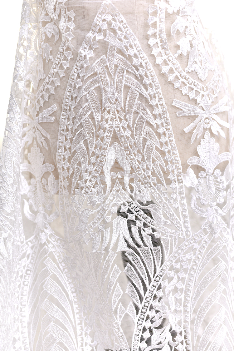 135cm 100cm French sequins Lace Fabric for wedding dress sequin off white lace embroidered applique DIY party dresses fabrics in Lace from Home Garden
