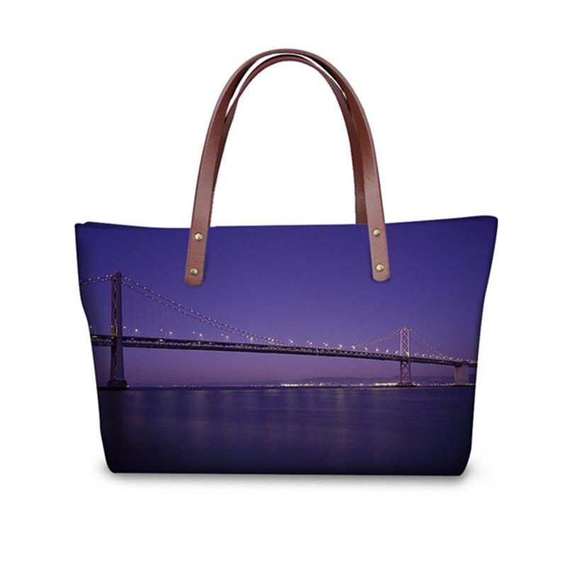 Fashion Status of City Pattern Women Bags Luxury Designer Big Totes Crossbody Bag for Ladies Travel Shoulder Handbag