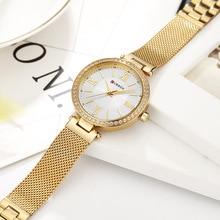 CURREN 9011 Watch Women Casual Fashion Quartz Wristwatches Crystal Design Ladies Gift relogio feminino