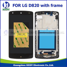 1pcs 100% Guarantee For LG Google Nexus 5 D820 D821 LCD Screen Display Touch Digitizer with Frame