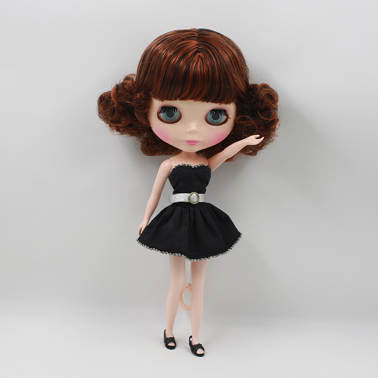 ФОТО Double Color shor hair with bangs nude Blyth doll diy makeup dolls for girls gifts