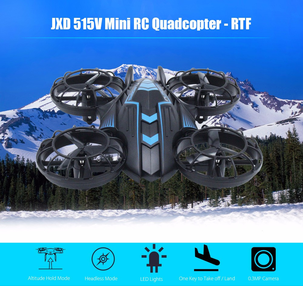 Mini RC Drones 0.3MP Camera RTF Drone Dron 2.4GHz 4CH 6-axis Gyro Altitude Hold 360-degree Eversion Flying Helicupter with Light jjrc rc drone dron rtf wifi fpv firefly drones with camera 2 4ghz 4ch 6 axis gyro air press altitude hold app control quadcopter
