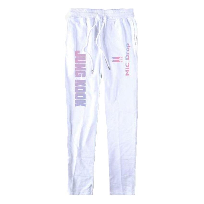 K-POP KPOP BTS Harajuku Women's Pants Bangtan Boys Elastic Waist Cotton Sweat Pants Women Fashion Casual Trousers Sweatpants 4XL