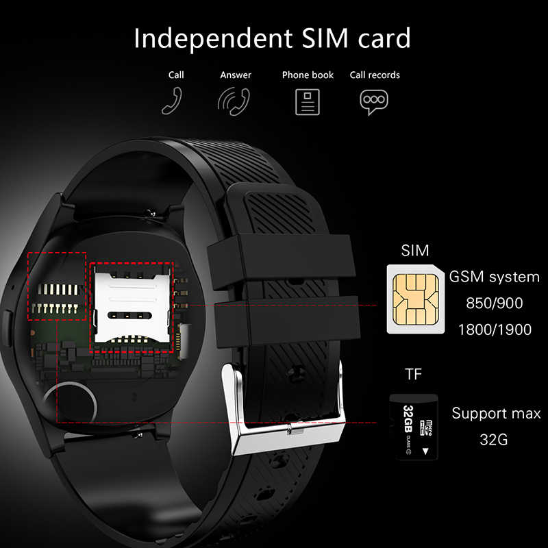 LIGE New Smart Watch Men Women Fitness Sport Watch Support With Camera Bluetooth SIM TF Card For Android IOS Reloj Hombre+Box