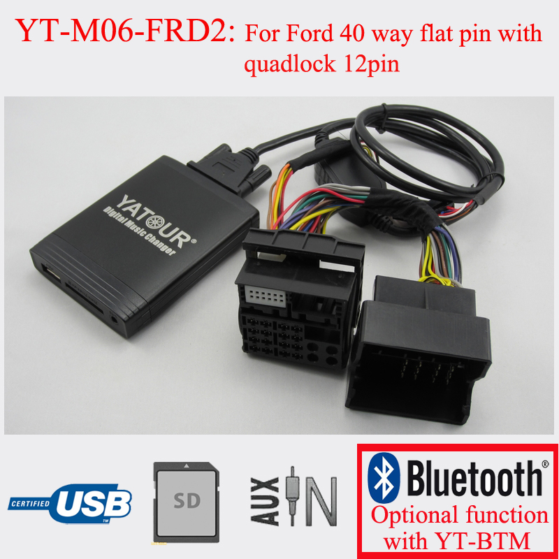 Yatour car radio USB SD AUX IN music streaming MP3 adapter for New Ford yatour for vw radio mfd navi alpha 5 beta 5 gamma 5 new beetle monsoon premium rns car digital cd music changer usb mp3 adapter
