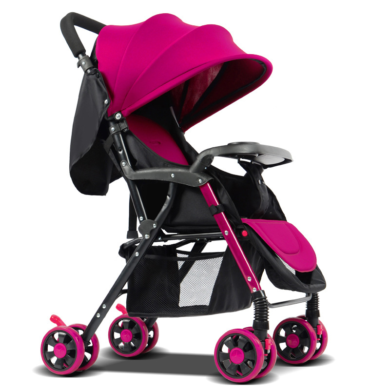 Lightweight Baby Trolley Four Wheel Stroller Folding Baby  Stroller Travel Can Sit And Lie Folding Baby Travel Car