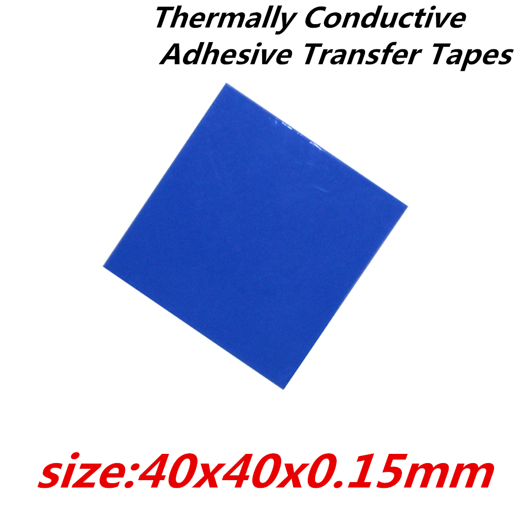 30pcs/lot  40x40mm Thermally Conductive Adhesive Transfer Tapes thermal pad double sided tape for heatsink  radiator 20pcs lot aluminum heatsink 14 14 6mm electronic chip radiator cooler w thermal double sided adhesive tape for ic 3d printer